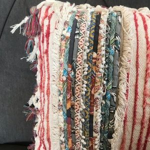 Accents - Multicolored Distressed Tassel Pillow
